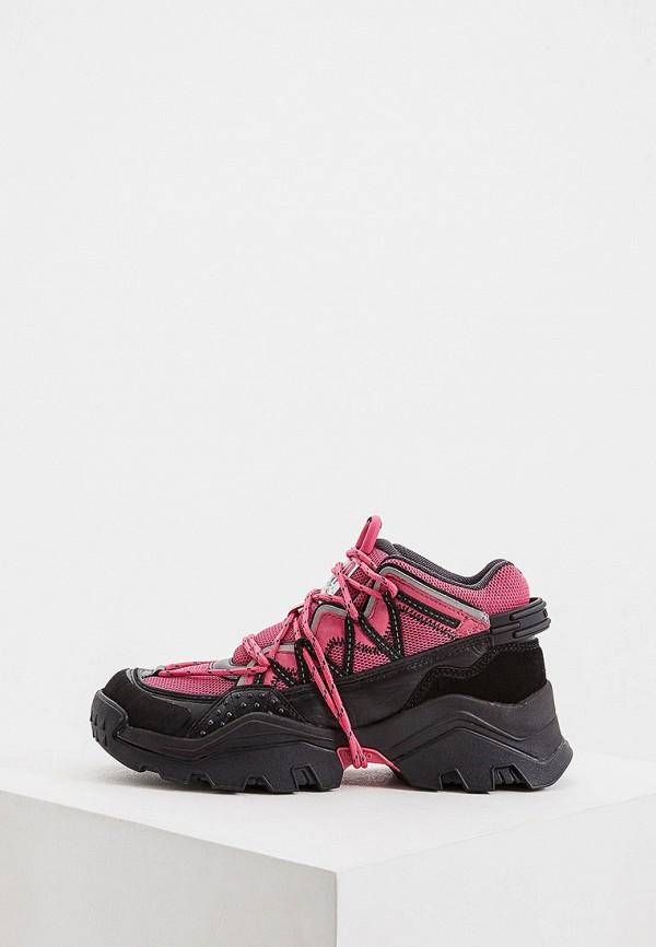 женские кроссовки kenzo, розовые