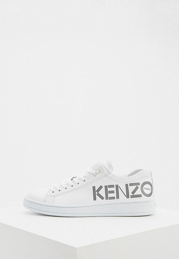 женские низкие кеды kenzo, белые