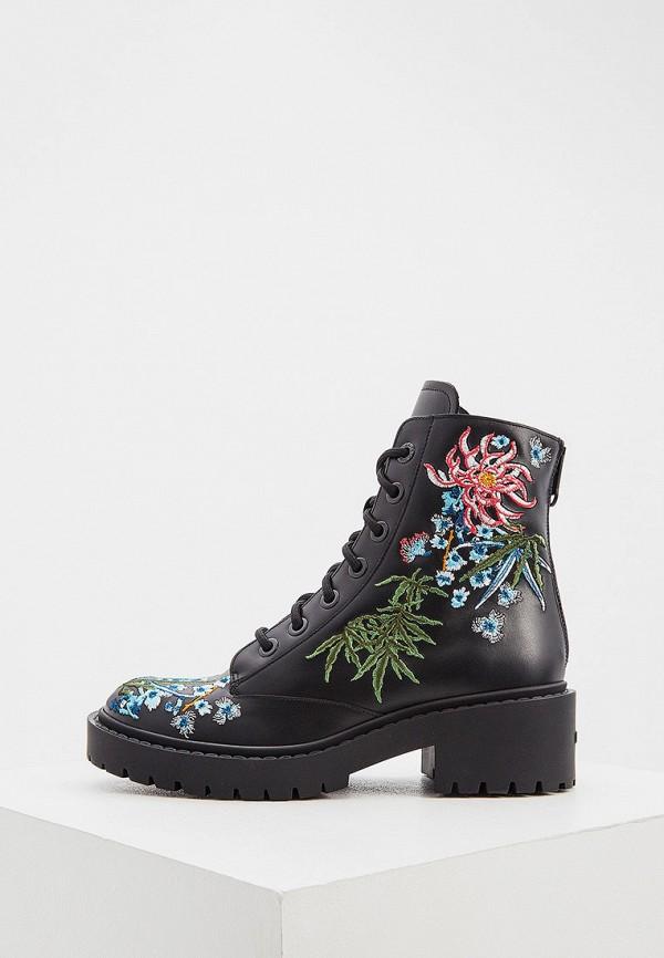 женские высокие ботинки kenzo, черные