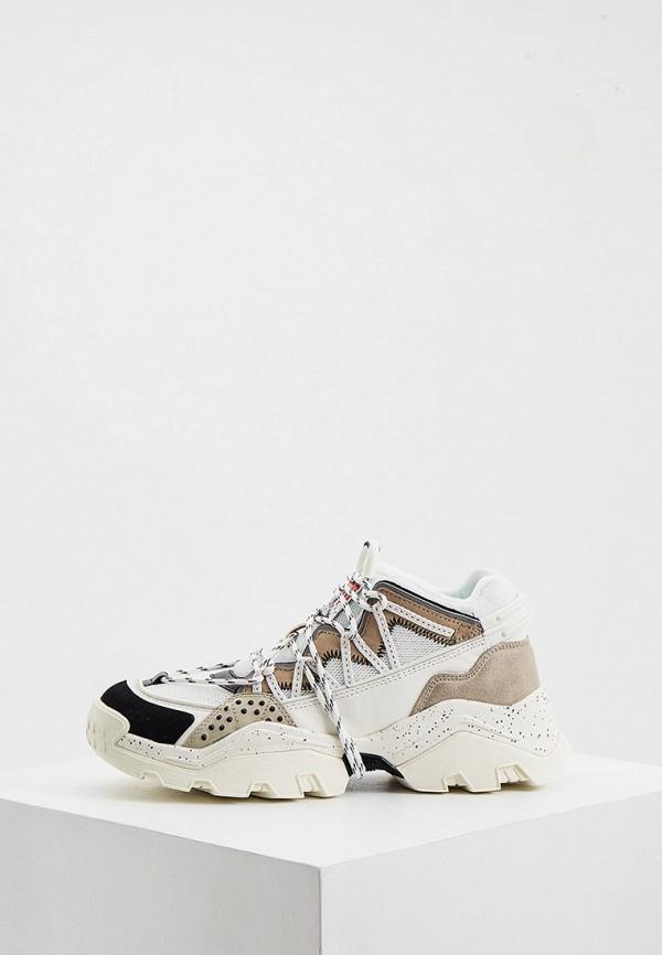 женские кроссовки kenzo, бежевые