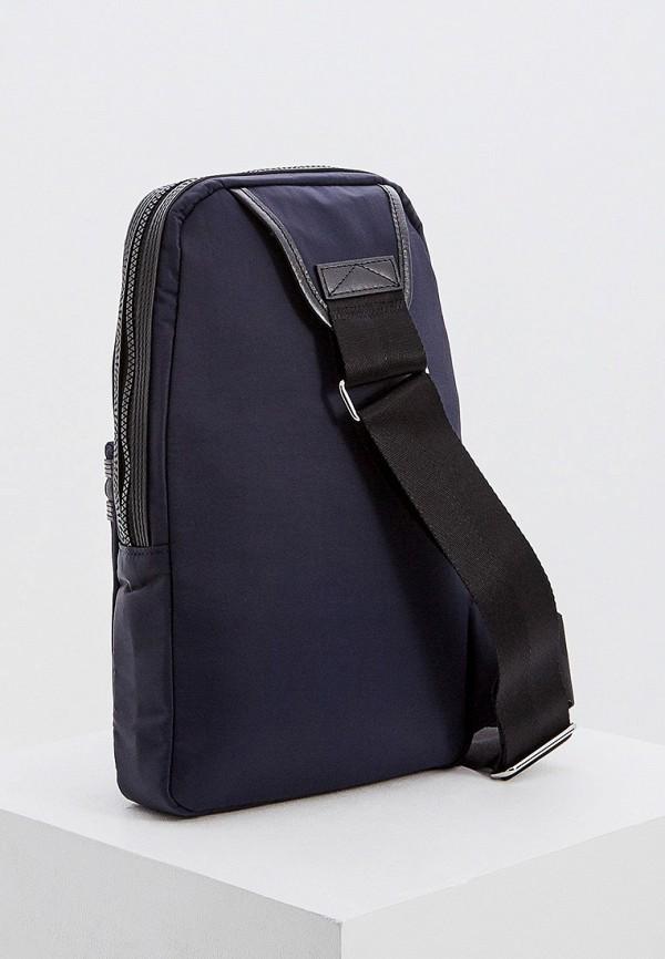 Фото 2 - мужской рюкзак Kenzo синего цвета
