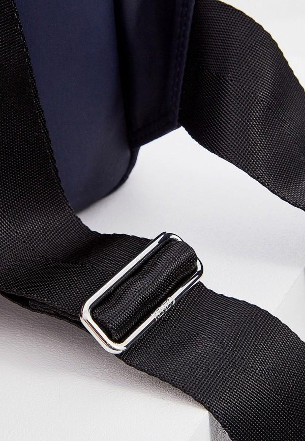 Фото 3 - мужской рюкзак Kenzo синего цвета