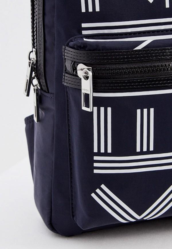 Фото 4 - мужской рюкзак Kenzo синего цвета
