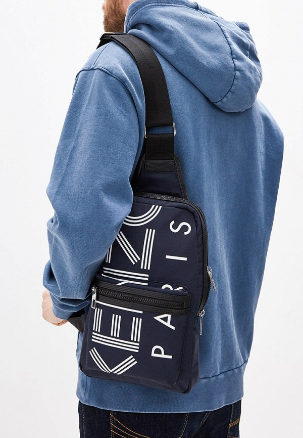 Фото 6 - мужской рюкзак Kenzo синего цвета