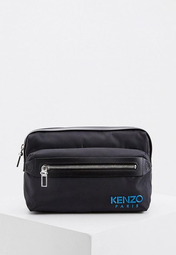 мужская поясные сумка kenzo, черная