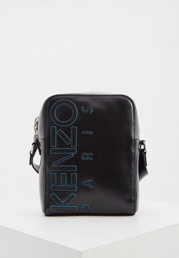 мужская сумка через плечо kenzo, черная
