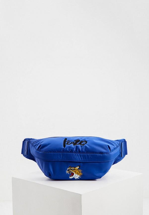 мужская поясные сумка kenzo, синяя