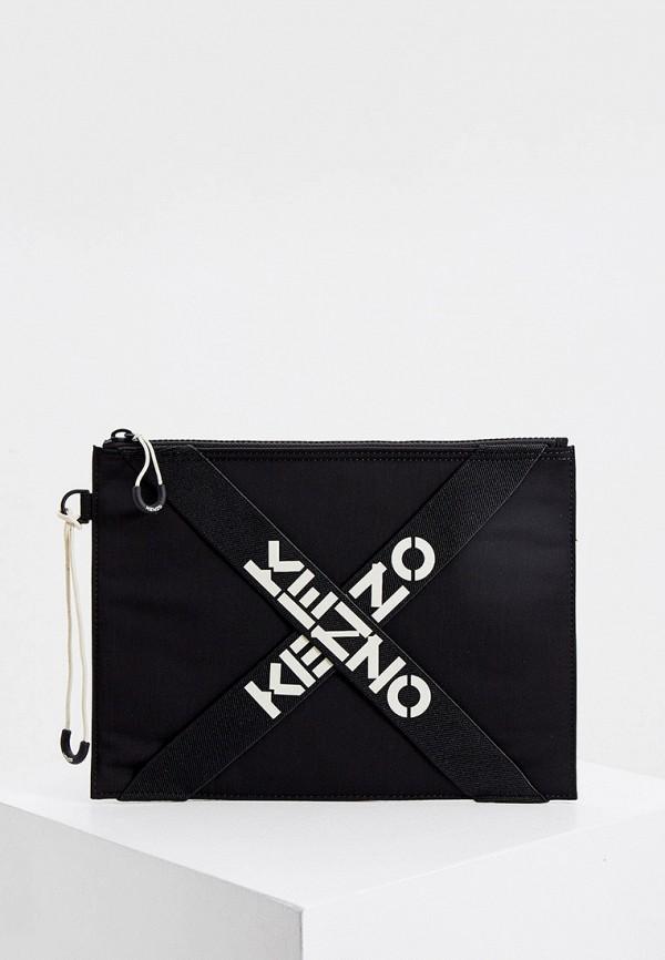 женский клатч kenzo, черный