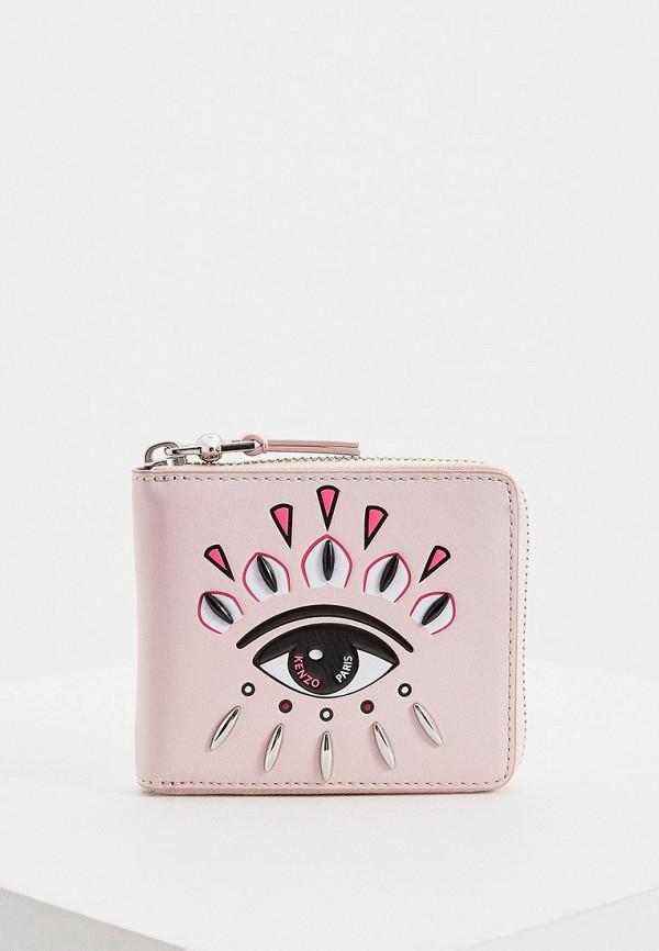 женский кошелёк kenzo, розовый