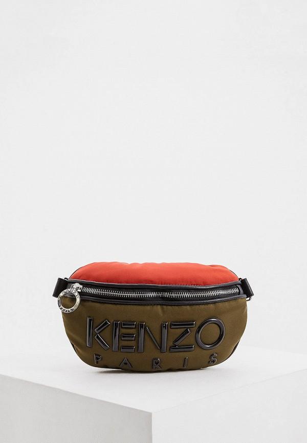 женская поясные сумка kenzo, хаки