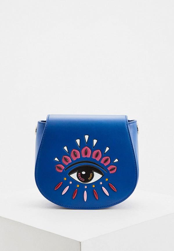 женская сумка через плечо kenzo, синяя