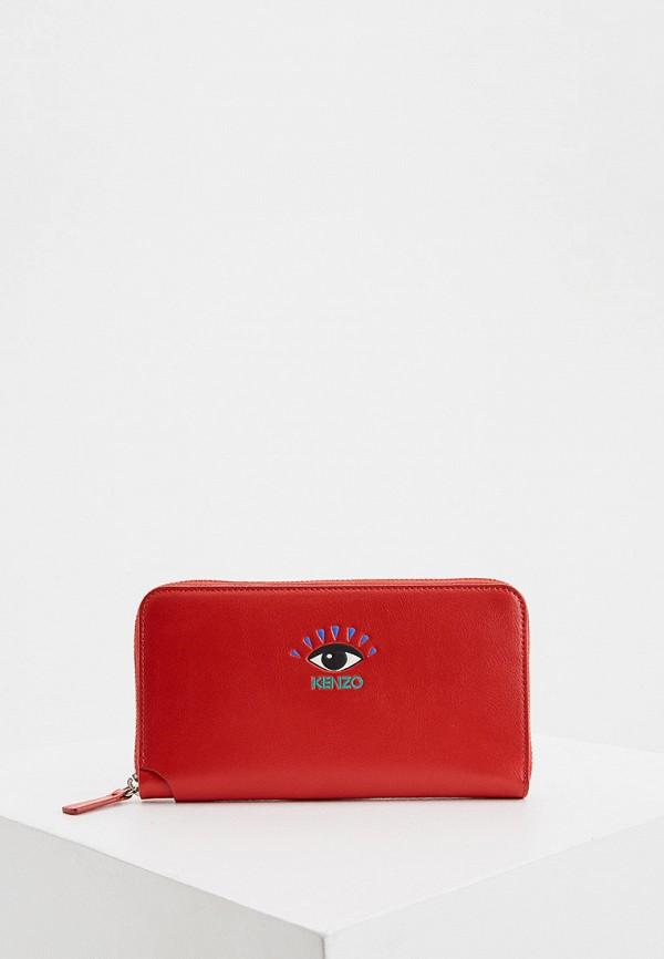 женский кошелёк kenzo, красный