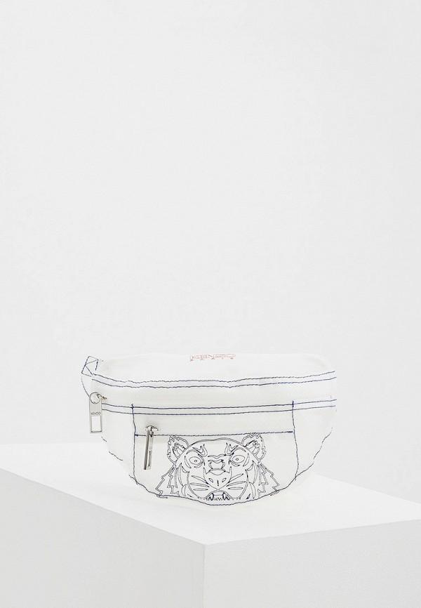 женская поясные сумка kenzo, белая