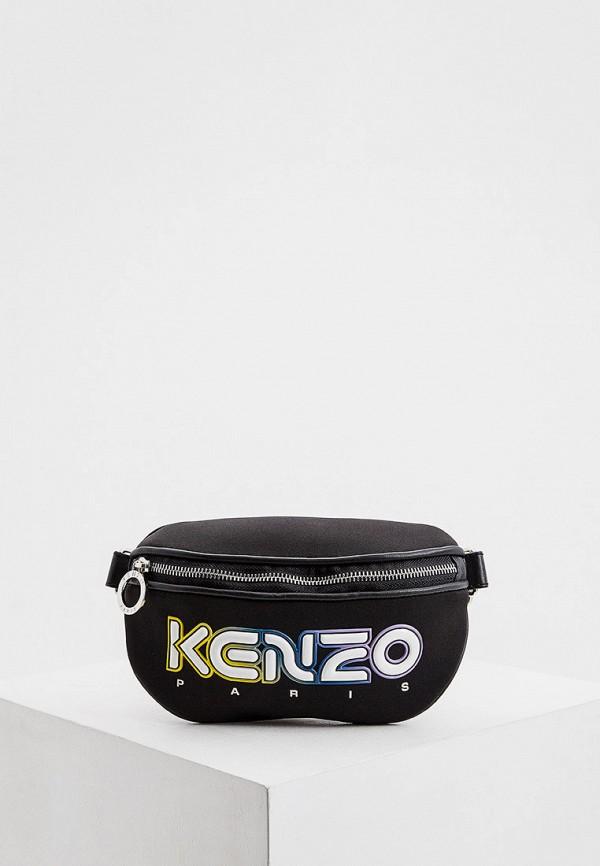женская поясные сумка kenzo, черная
