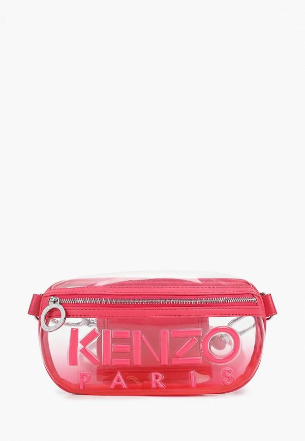 женская поясные сумка kenzo, розовая