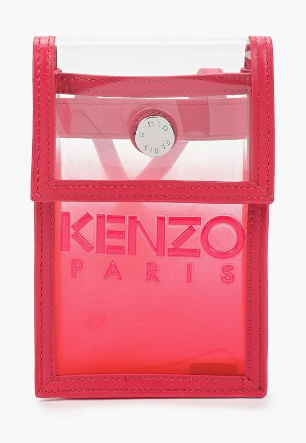 женская сумка через плечо kenzo, красная