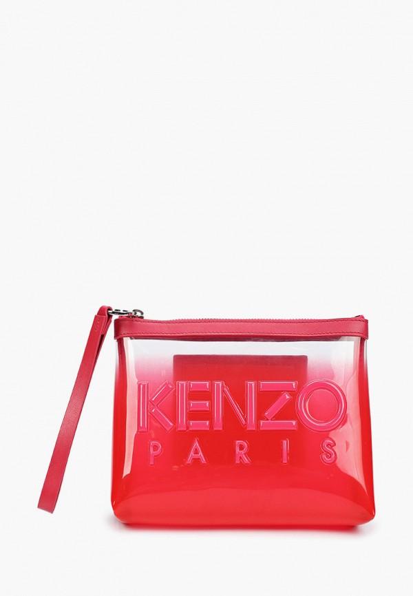 женский клатч kenzo, красный