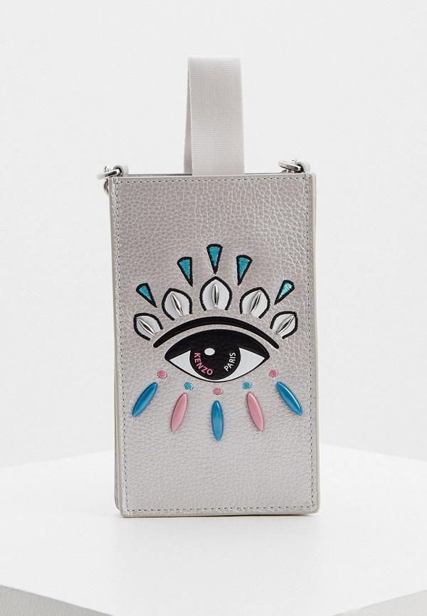 женская сумка kenzo, серебряная