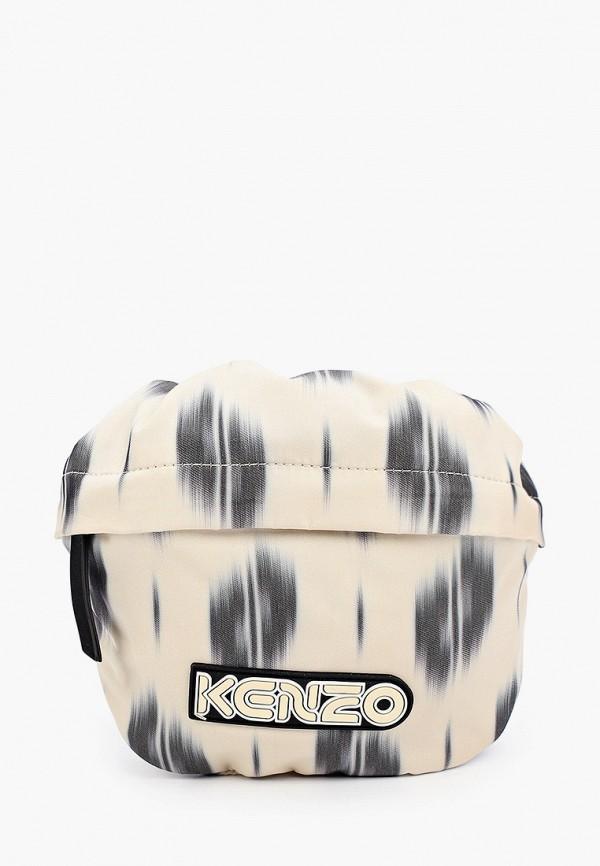 женская поясные сумка kenzo, бежевая
