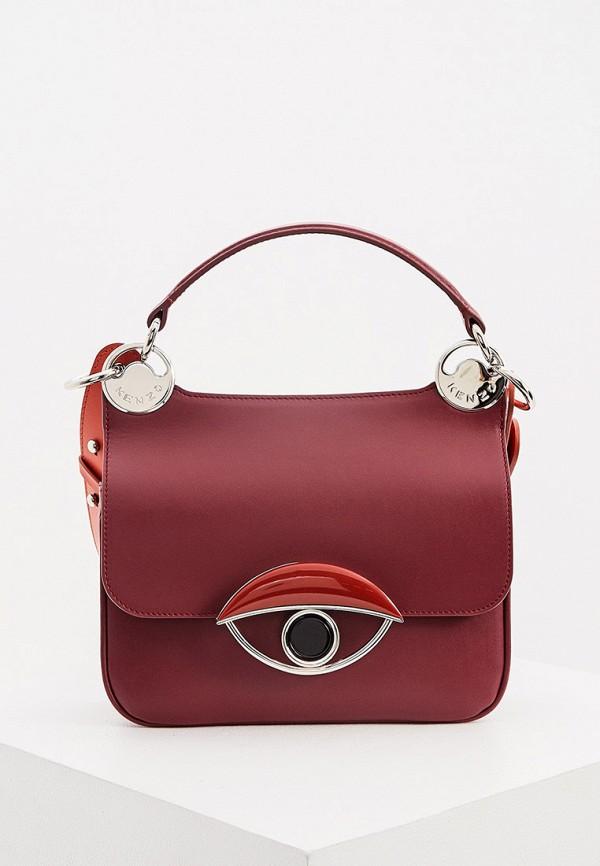женская сумка kenzo, бордовая