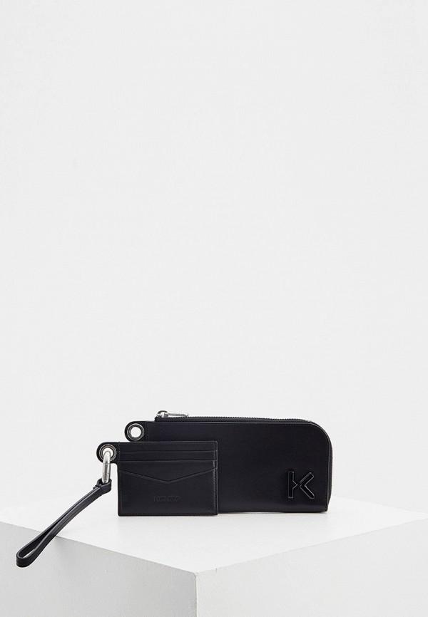 женский кошелёк kenzo, черный