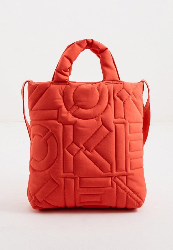 женская сумка kenzo, оранжевая