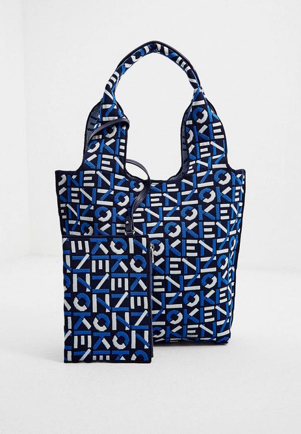 женская сумка-шоперы kenzo, черная