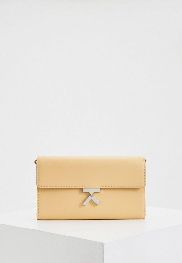 женская сумка kenzo, бежевая