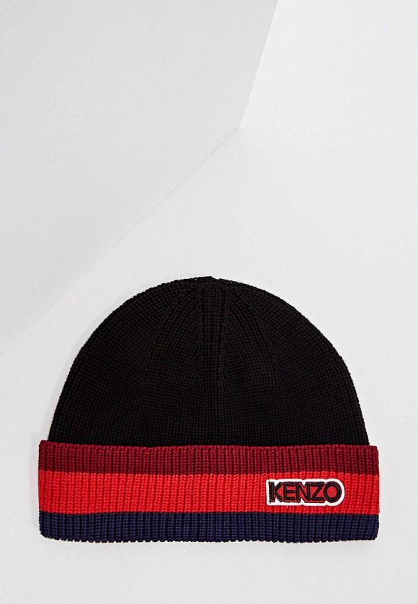 мужская шапка kenzo, черная