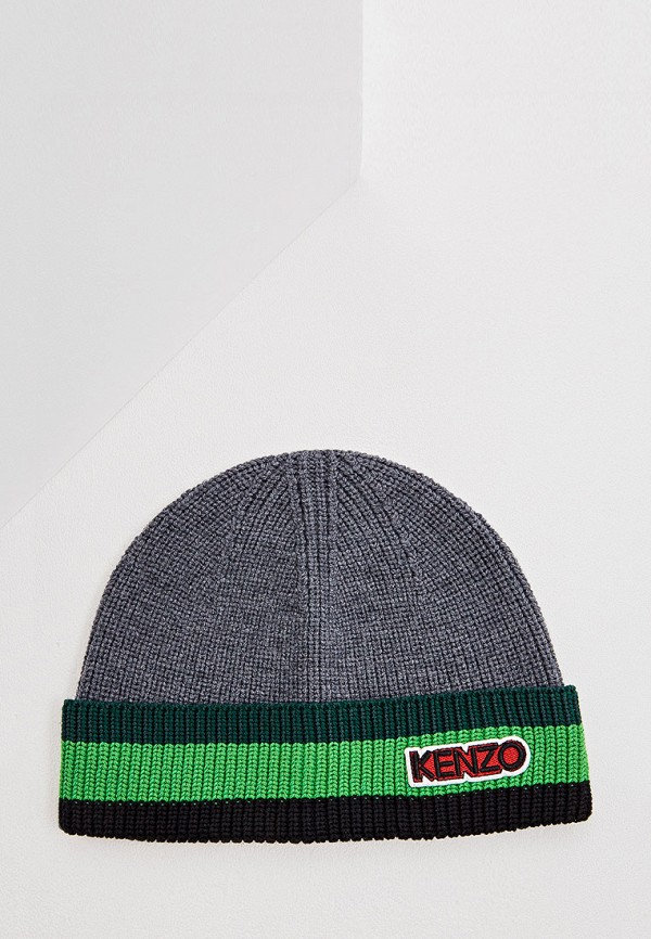 мужская шапка kenzo, серая
