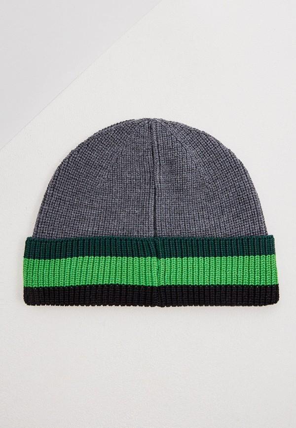 Фото 2 - мужскую шапку Kenzo серого цвета