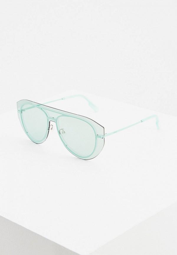 женские солнцезащитные очки kenzo, бирюзовые
