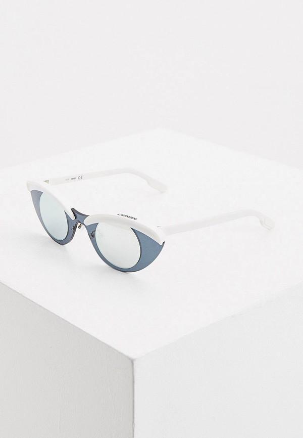 женские солнцезащитные очки kenzo, белые