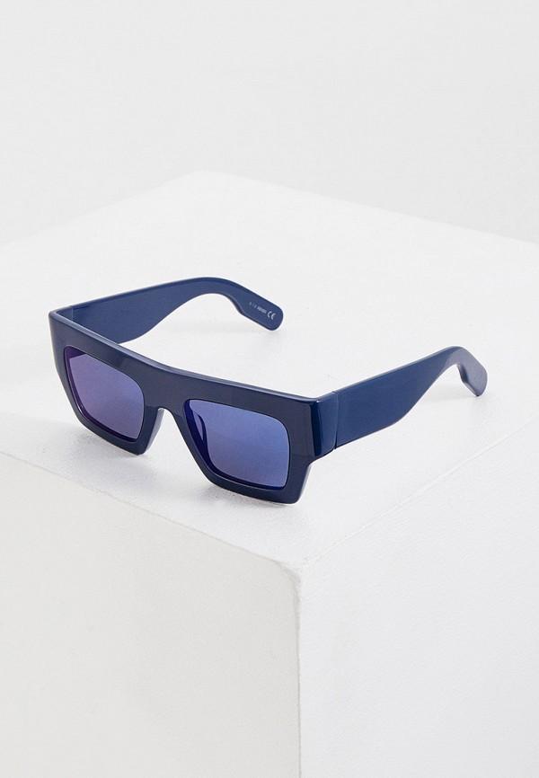 женские квадратные солнцезащитные очки kenzo, синие
