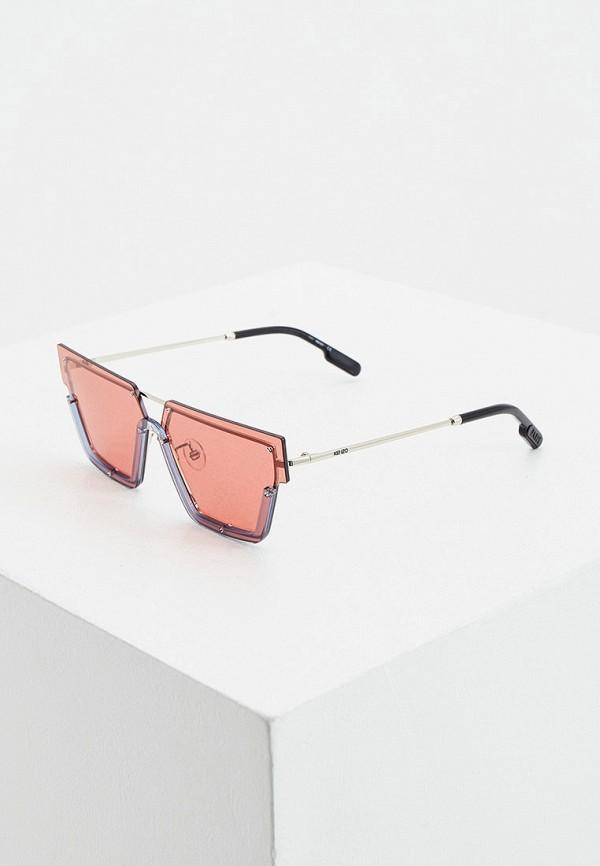женские солнцезащитные очки kenzo, серебряные