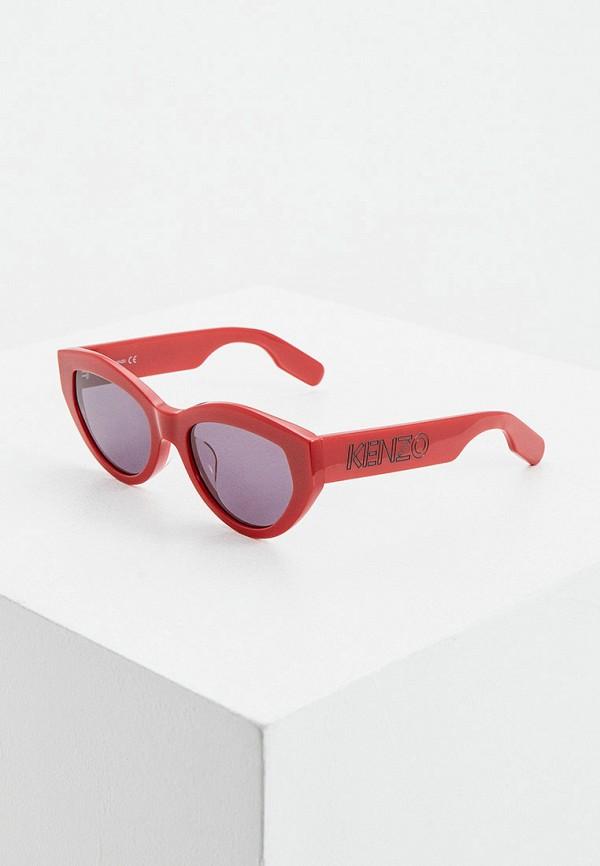 женские солнцезащитные очки kenzo, красные