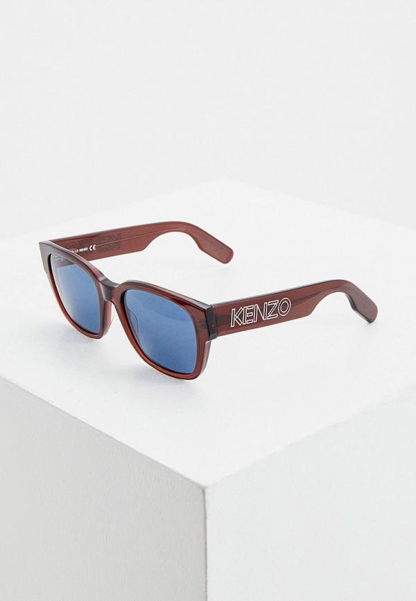женские солнцезащитные очки kenzo, бордовые
