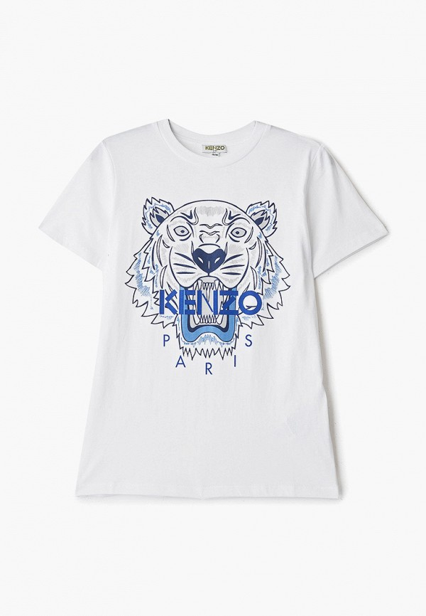 футболка kenzo для мальчика, белая