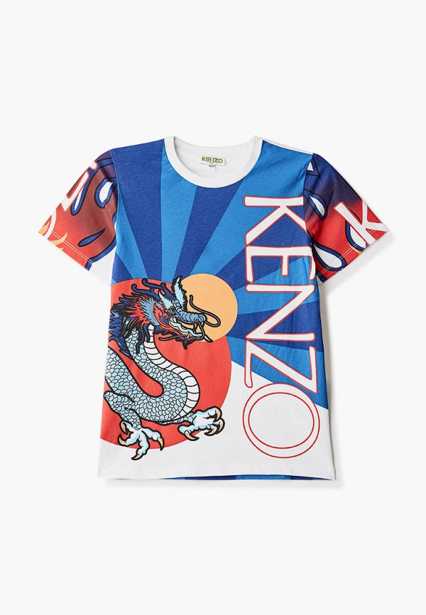 футболка с коротким рукавом kenzo для мальчика, разноцветная