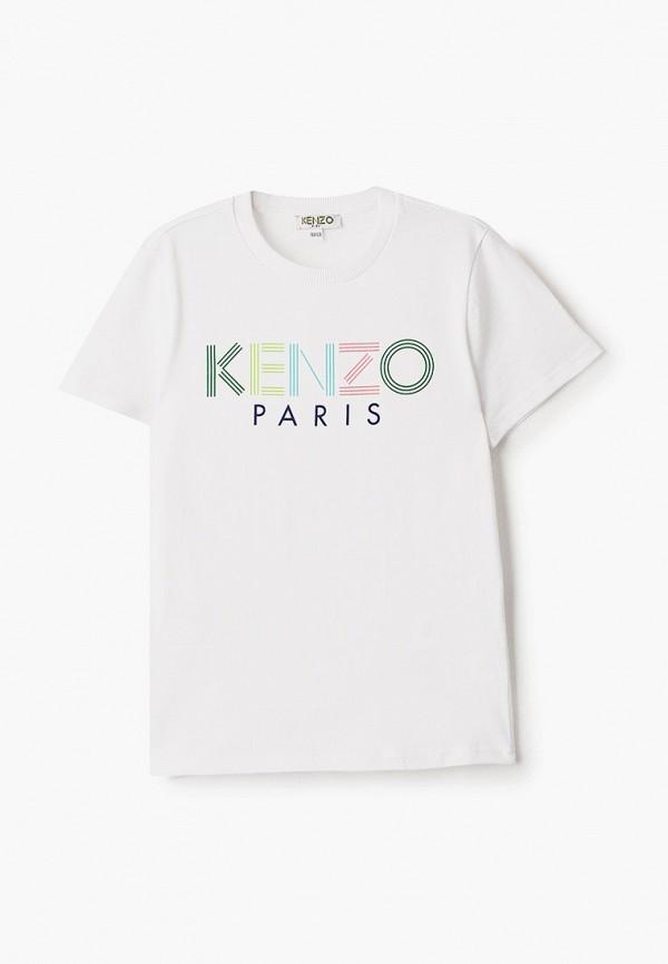 футболка с коротким рукавом kenzo для мальчика, белая
