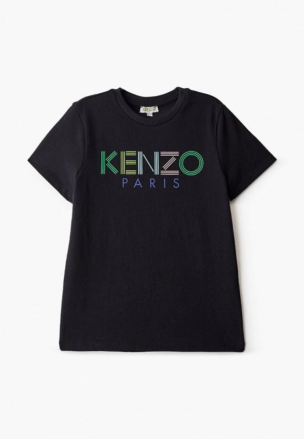 футболка с коротким рукавом kenzo для мальчика, черная