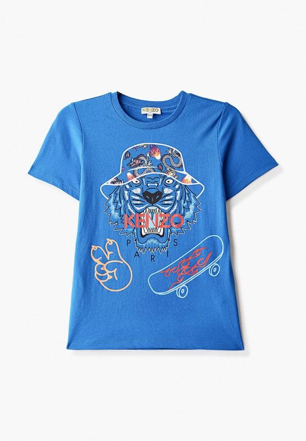 футболка с коротким рукавом kenzo для мальчика, синяя