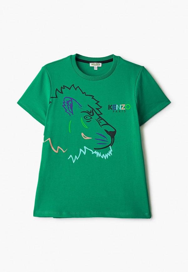 футболка с коротким рукавом kenzo для мальчика, зеленая