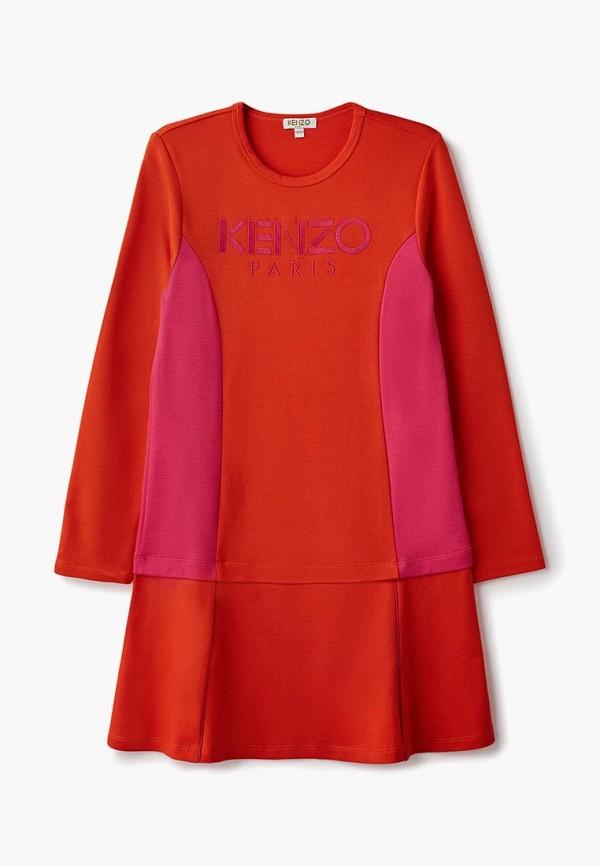 повседневные платье kenzo для девочки, красное