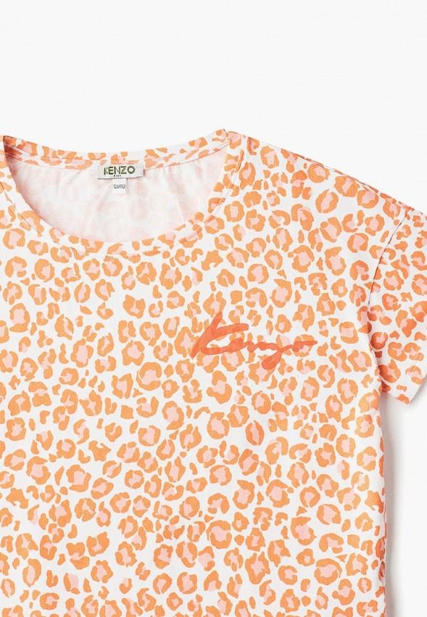 Фото 3 - Футболку Kenzo оранжевого цвета