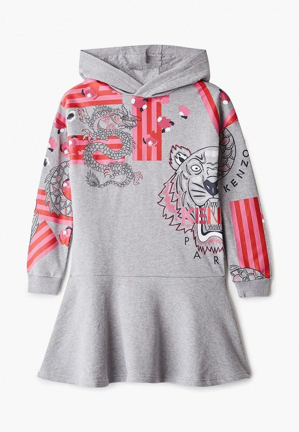платье kenzo для девочки, серое