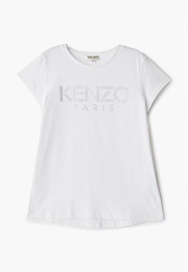 футболка kenzo для девочки, белая