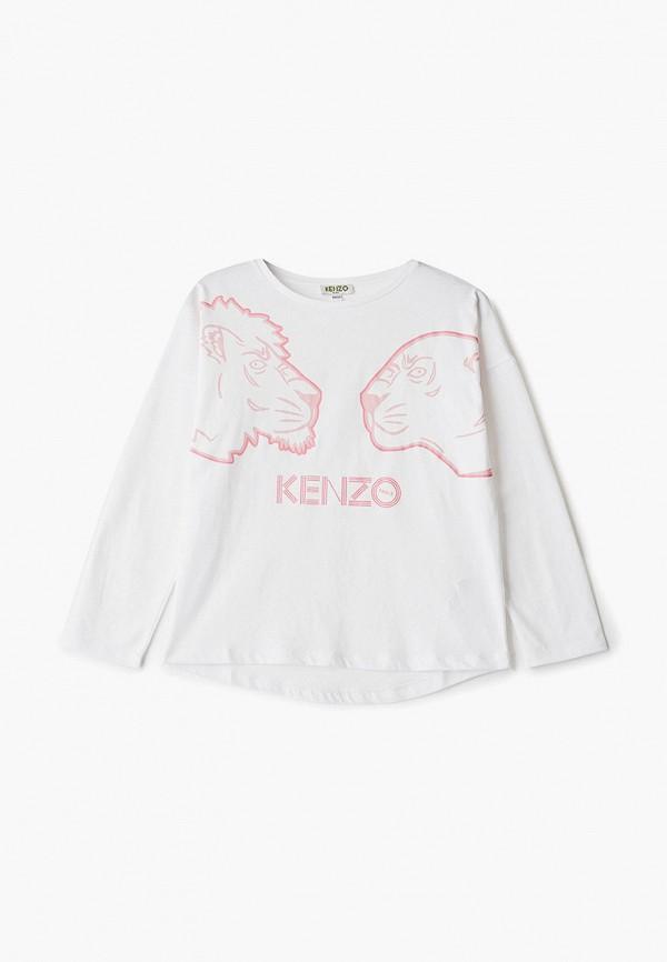 лонгслив kenzo для девочки, белый