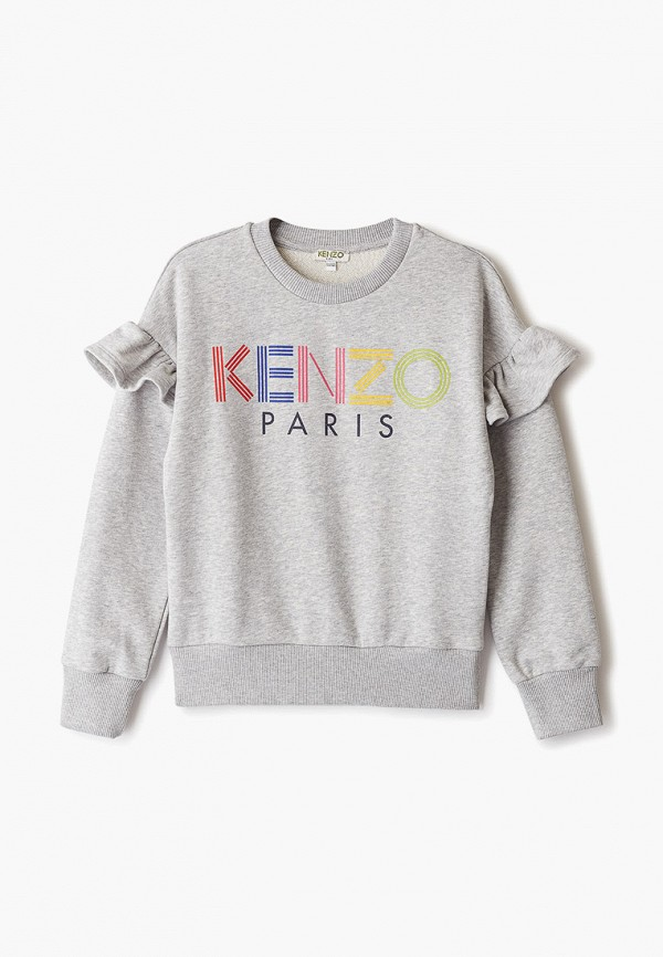 свитшот kenzo для девочки, серый