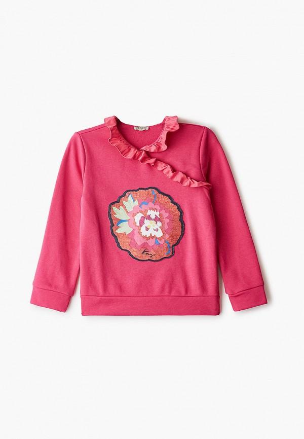 свитшот kenzo для девочки, розовый